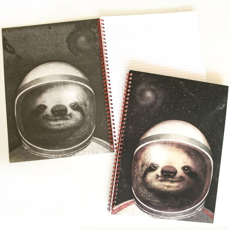 Space Sloth (LB) A4 Notebook