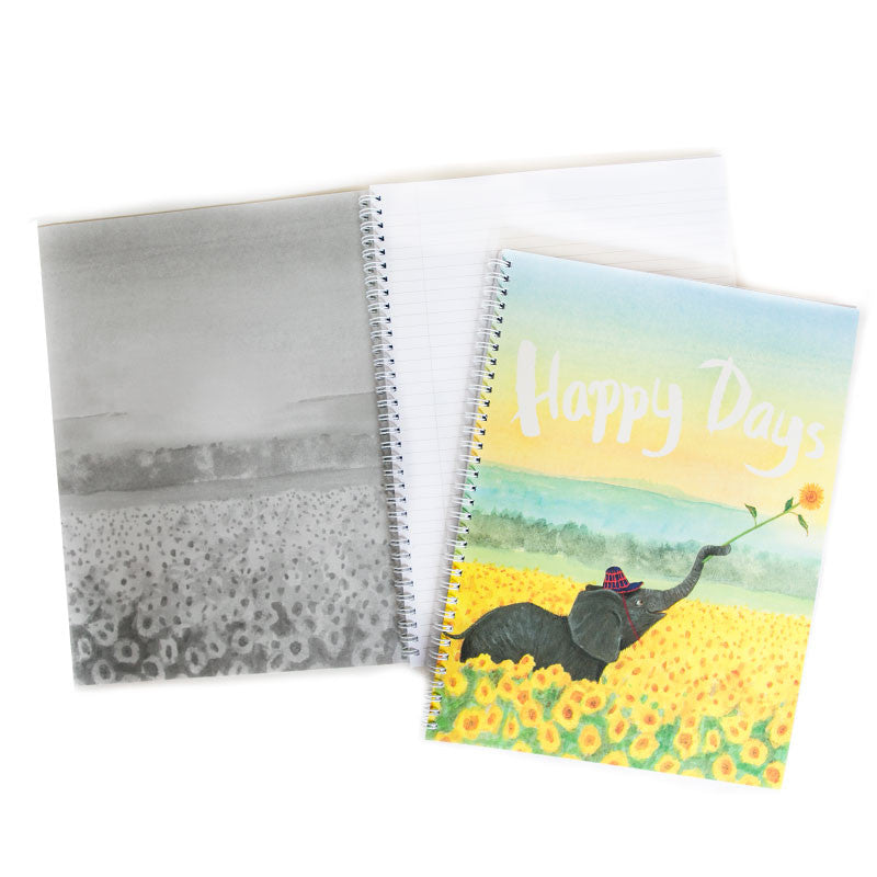 Sunflower Elephant LB A4 Notebook