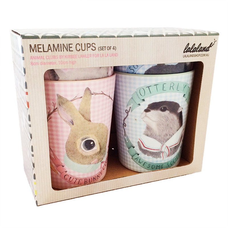 Animal Clubs Melamine Cup Set