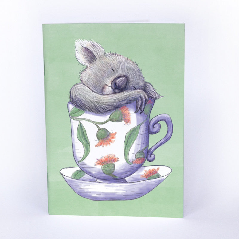 Teacup Koala (PB) A6 Notebook