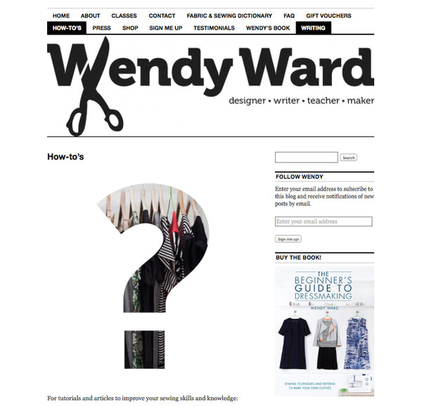 Wendy Ward Sewing Blog