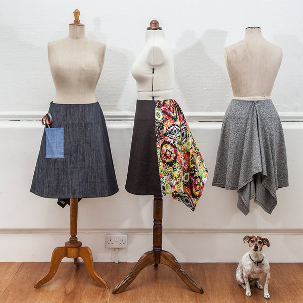 Fishtail skirt sewing pattern from Beginner's Guide to Dressmaking by Wendy Ward