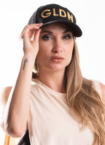 GLDN BLACK AND GOLD BASEBALL CAP