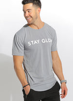 MEN'S STAY GLDN LONGLINE TEE - LT BLUE