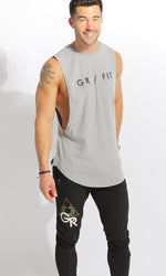GR FIT Men's Muscle Tank - Dark Grey