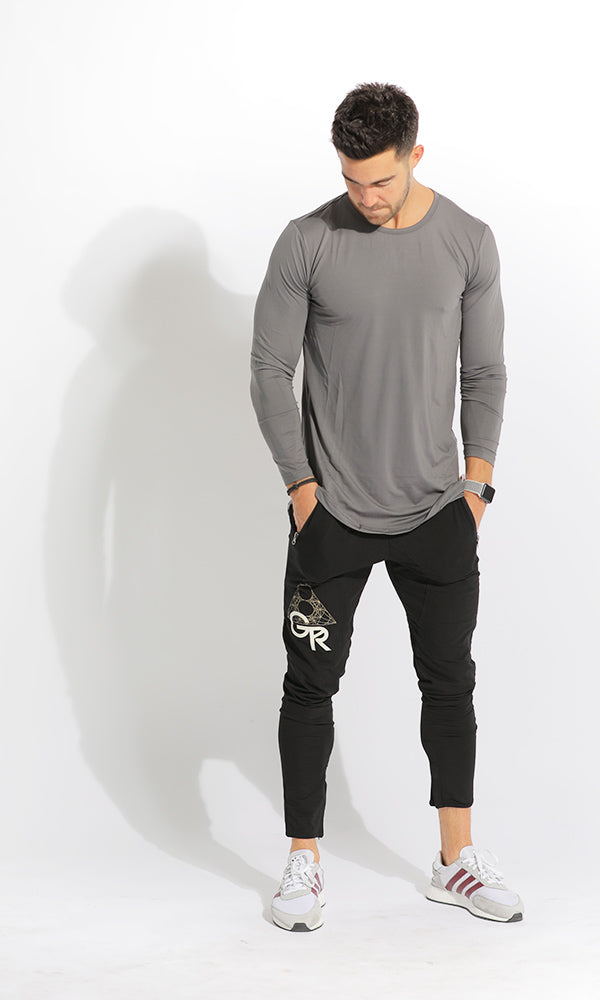 UNISEX DRY-FIT LONG SLEEVE - GREY