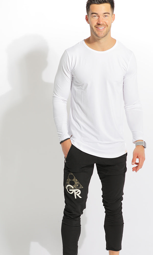 MEN'S DRY-FIT LONGSLEEVE - WHITE