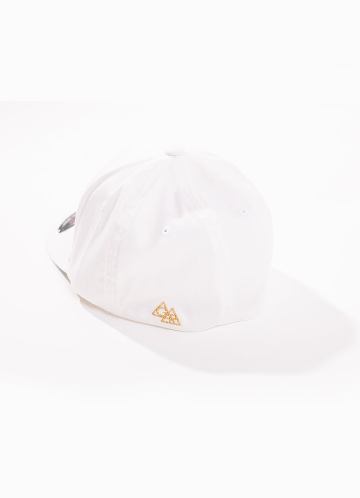 STAY GLDN WHITE AND GOLD BASEBALL CAP