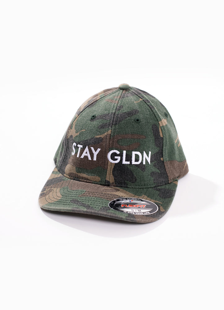 STAY GLDN CAMO AND WHITE BASEBALL CAP