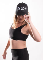 GLDN BLACK AND WHITE BASEBALL CAP