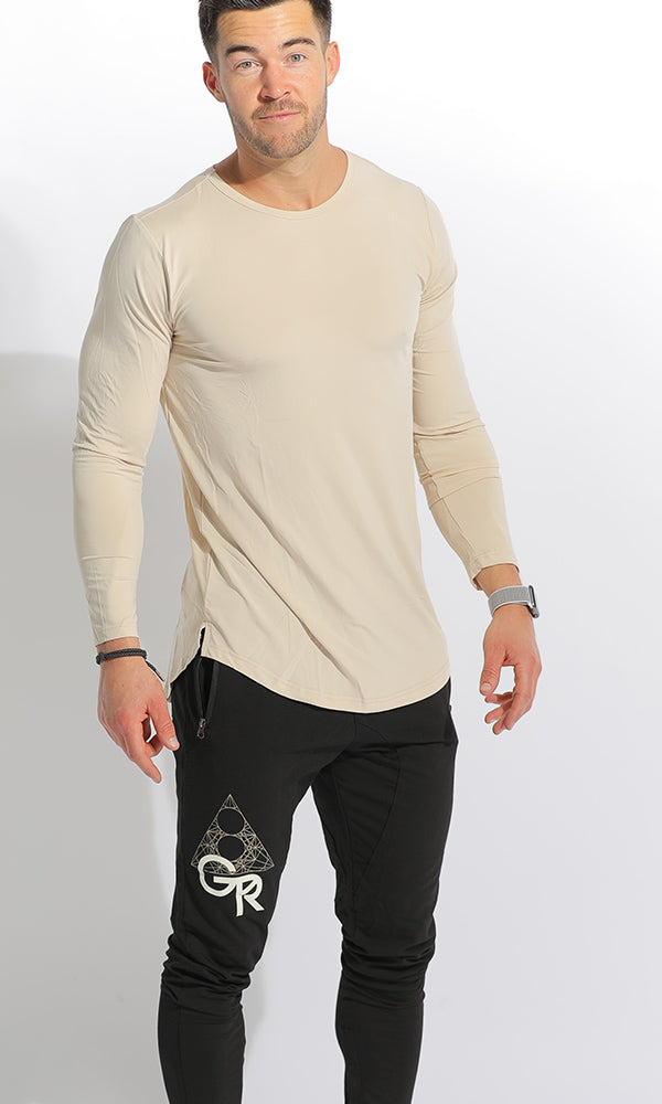UNISEX DRY-FIT LONG SLEEVE - TAN