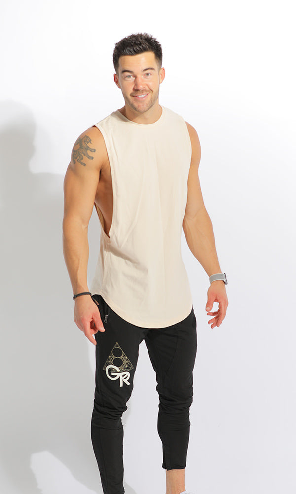 GR // STRONG UNISEX MUSCLE TANK - TAN