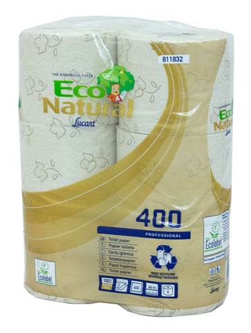 Lucart 811832 Eco Natural 2 Ply Toilet Rolls x 30