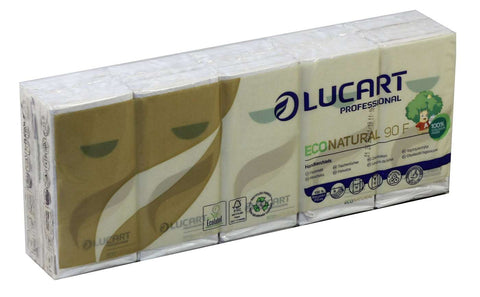 Lucart 843166 Eco Natural Handkerchiefs 4 ply x 24