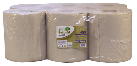 Lucart 852241  Eco Natural 2 Ply Centre-feed Roll x 6