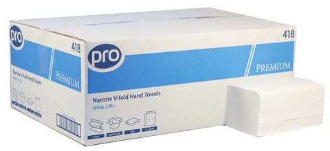 PRO Premium Easipull White 2 Ply Narrow Paper Towel X 3,200