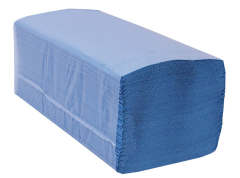 PRO Easipull Interfold 1 Ply Recycled Paper Hand Towel Blue x 5,000