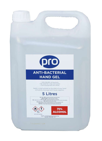 PRO Sanitising Alcohol Hand Gel 2 x 5lt