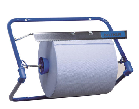 Wiping Roll Wall Dispenser Blue Steel for rolls up to 40cm wide