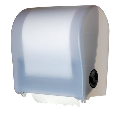 Autocut Roll Towel Dispenser Translucent White