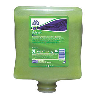 Heavy Duty Hand Cleaner Cartridge Deb Stoko Solopol Lime + Dispenser 2LTR