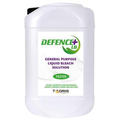 Defence+LB Perfumed General Purpose Liquid Bleach Solution 25lt & 1000lt