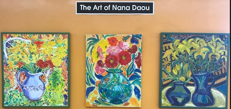 Featuring the ART of Nana Daou ... Flowers Blooming Brightly