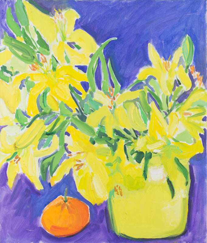 Yellows in yellow & a mandarin ND 3, by Nana Daou