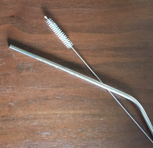 Stainless steel straws with cleaner! NEW