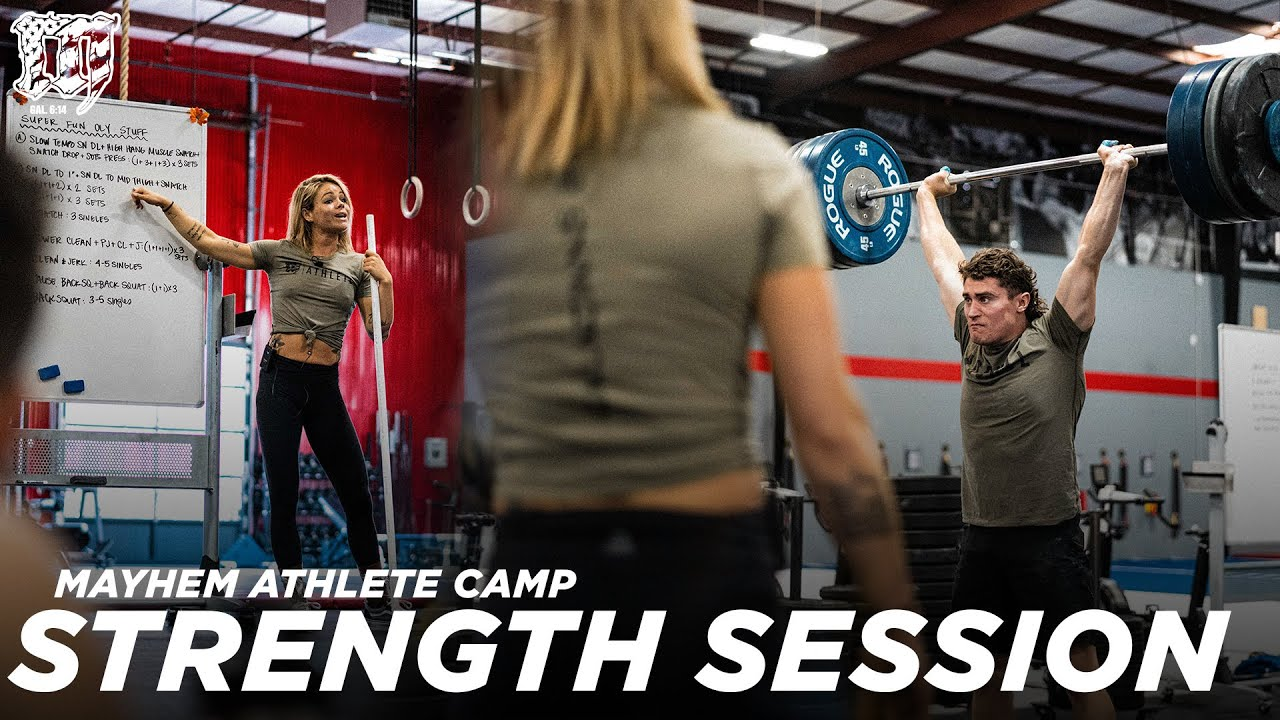 Strength Session Coached by Sage Burgener // 12.8.2020