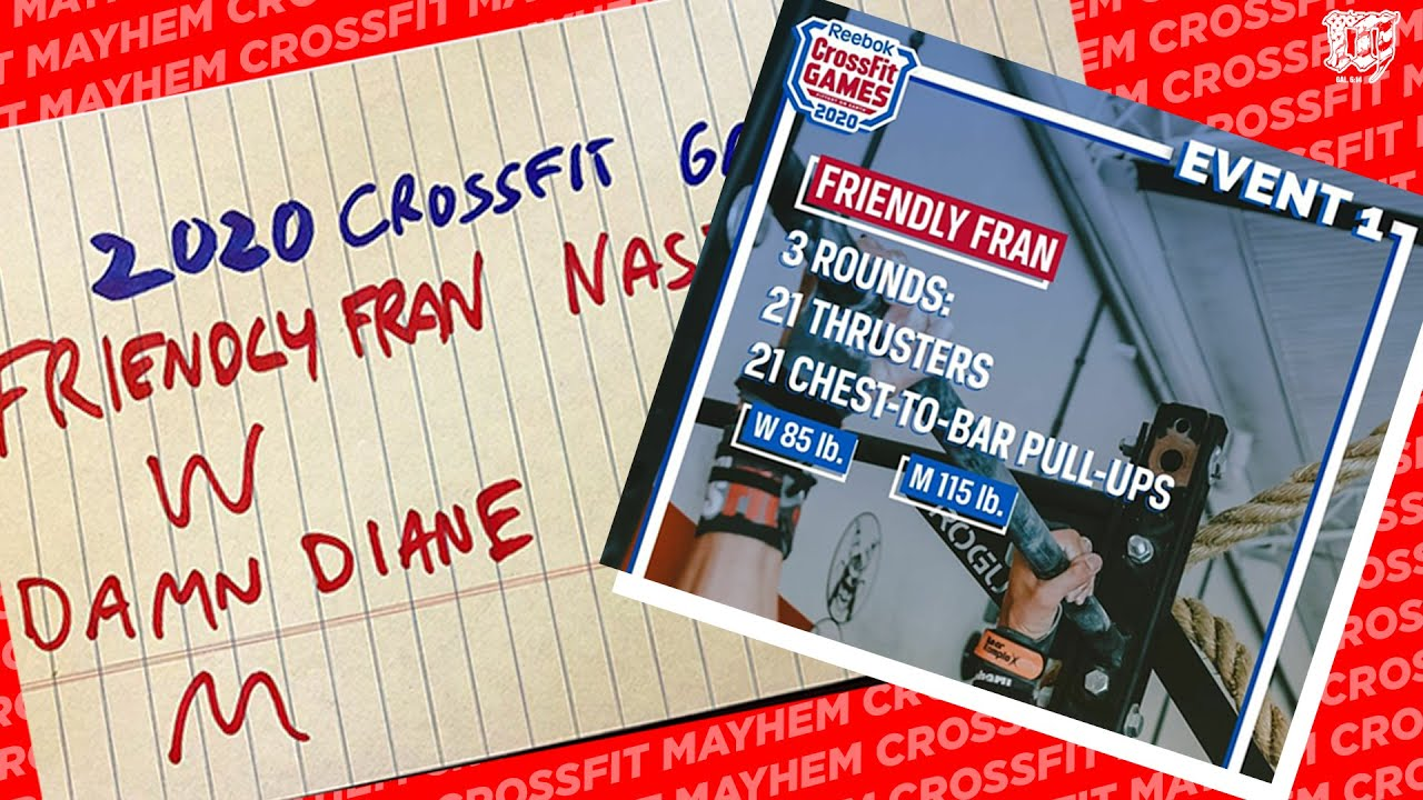 2020 CrossFit Games EVENT 1 // FRIENDLY FRAN