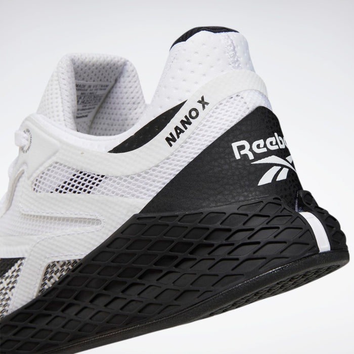 Men's Reebok Nano X: Black + White