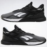 REEBOK NANO X // WOMEN'S // BLACK + WHITE + GLASS BLUE