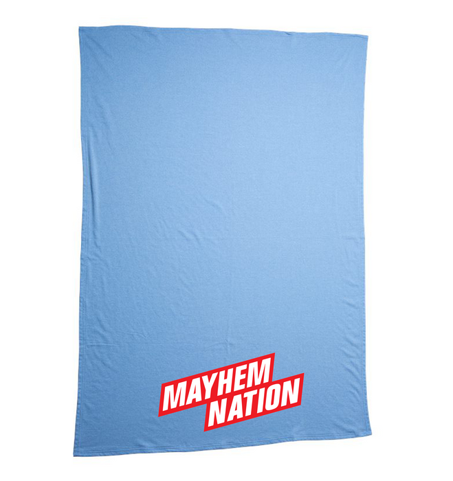 Mayhem Nation Blanket: Blue