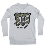 "Mayhem ""M"" Lightweight Sweatshirt // Grey & Camo"