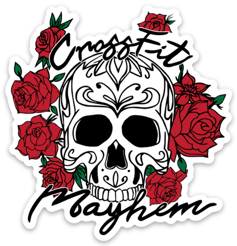 Mayhem Skulls & Roses Sticker