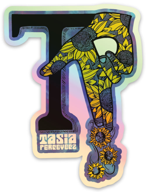 TASIA PERCEVECZ  // STICKER // HOLOGRAPHIC