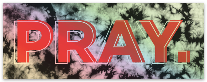 PRAY // STICKER // HOLOGRAPHIC RED