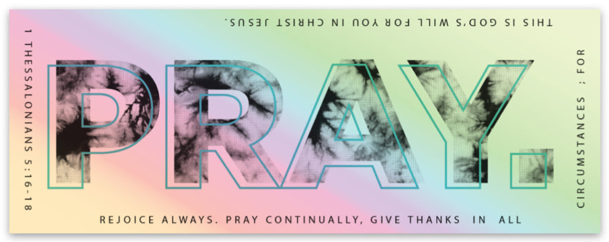 PRAY // STICKER // HOLOGRAPHIC WHITE