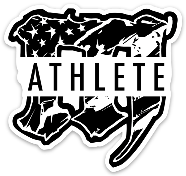 M ATHLETE 2.0 // STICKER // WHITE