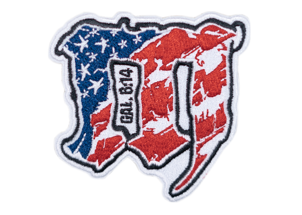 "MAYHEM ""M"" // PATCH // RED + WHITE + BLUE"