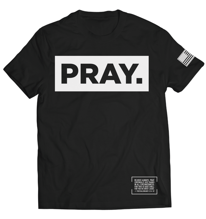 PRAY. // T-SHIRT // BLACK