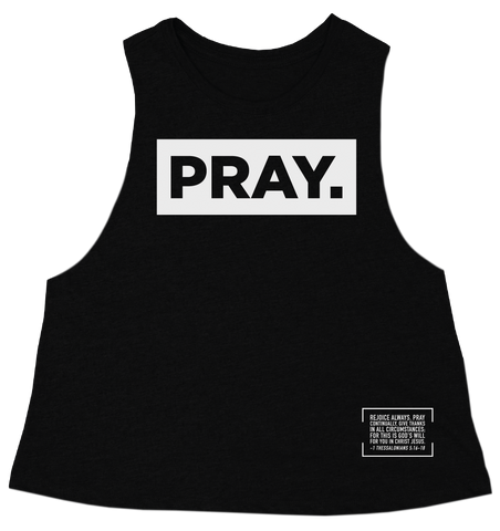 PRAY. // CROP TANK // BLACK
