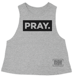 PRAY. // CROP TANK // GREY