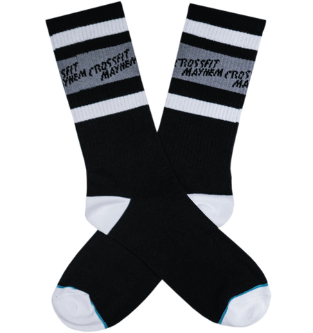 FIGHT THIS CFM // SOCKS // BLACK + GREY + WHITE