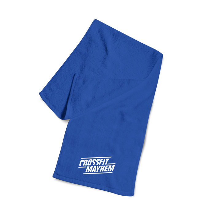 Mayhem Blue Workout Towel