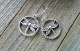 Handmade Silver Dragonfly Earrings