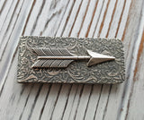 Handmade Oxidized Silver Arrow Money Clip