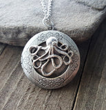 Handmade Octopus Locket Necklace