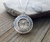 Handmade Dragonfly Locket Necklace
